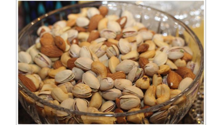 Peanuts, Cashews, Almonds, Walnuts, Hazelnuts, Pistachios