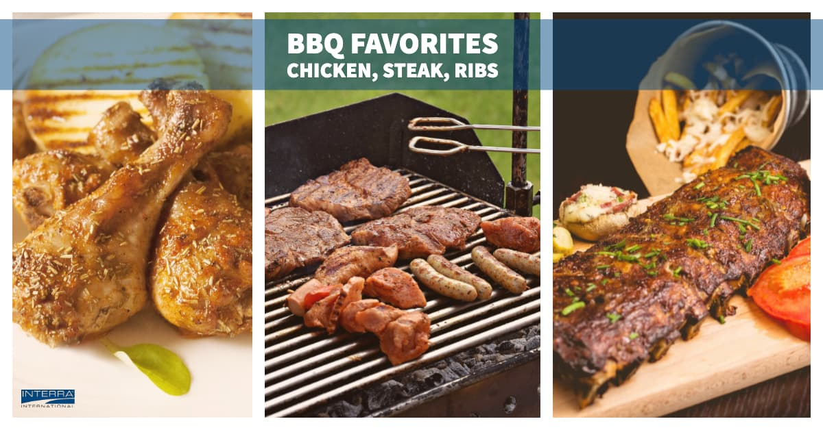 Meat Products - Chicken, Steak, Ribs