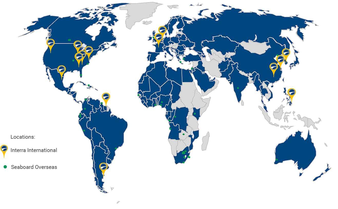 Interra International and Seaboard Overseas Global Locations